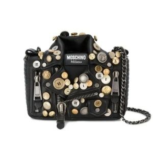 Authentic Moschino leather jacket bag